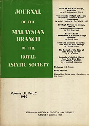 Journal of the Malaysian Branch of the: M. C. Subhadradis