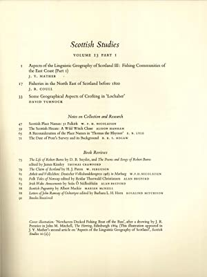 Scottish Studies: The Journal of the School: J. Y. Mather;