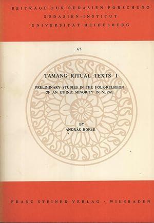 Tamang Ritual Texts I: Preliminary Studies in: András Höfer
