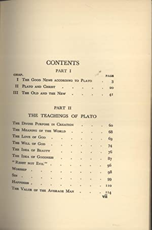 The great forerunner: Studies in the inter-relation of Platonism and Christianity: John S. Hoyland