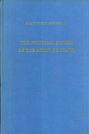 The political system of the Atoni of Timor. (Verhandelingen van het Koninklijk Instituut voor Taal-...