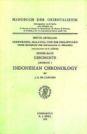 Indonesian Chronology (Handbuch der Orientalistik. Dritte Abteilung, Indonesien, Malaysia und die ...