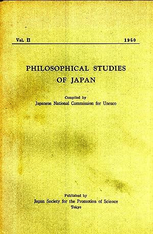 Philosophical Studies of Japan, Vol. 2: Satomi Takahashi; Keiji Nishitani; Shin-ichi Hisamatsu; ...