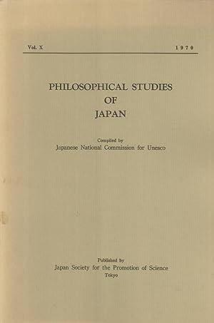 Philosophical Studies of Japan, Vol. 10: Hajime Nakamura; Seizo Ohe; Torataro Shimomura; Takeo ...