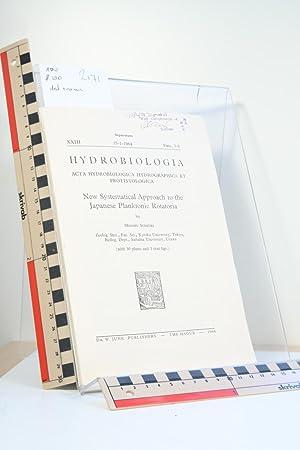 Hydrobiologica. Acta Hydrobiologica Hydrographica et Protistologica. New: Sudzuki, Minoru