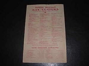 SUCCES D'ORCHESTRE. LE GRISBI. Ed Ray-Ventura 1954
