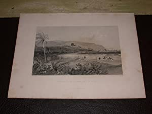 GRAVURE 1837. APPROACH TO CAIPHA, BAY OF ACRE