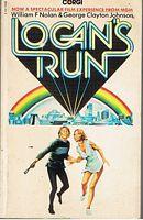 LOGAN'S RUN - (Film tie-in cover): William F. Nolan