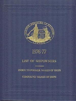 Lloyd's Register of Shipping - List of