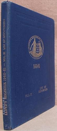 Lloyd's Register of Shipping - Register Book