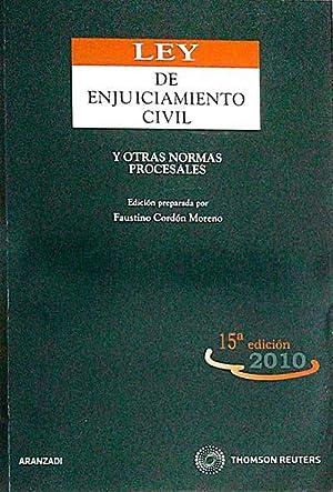 Ley de enjuiciamiento civil: Cordón Moreno, Faustino