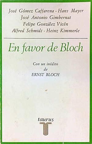 En favor de Bloch: VV. AA.