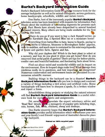 Burkes Backyard Dogs burke's backyard information guide (volume 1)burke, don: u.s.a.