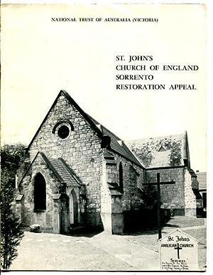 St. John's Church of England Sorrento Restoration: NATIONAL TRUST OF