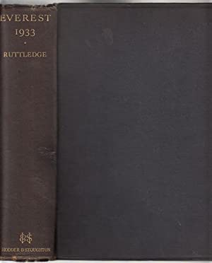 Everest 1933.: RUTTLEDGE, HUGH.