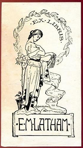 Australian Bookplate John Shirlow Design for Ella: SHIRLOW, JOHN; LATHAM,