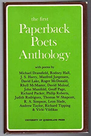 the first Paperback Poets Anthology. with poems: MCDONALD, ROGER.