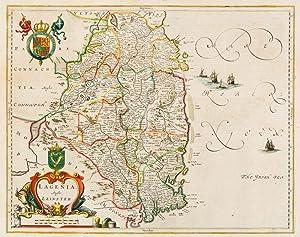 Lagenia; Anglis Leinster - [The County of: Ireland - Janssonius,
