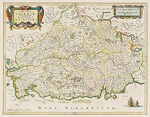 Comitatus Lageniae - The Countie of Leinster.: Ireland - Janssonius,