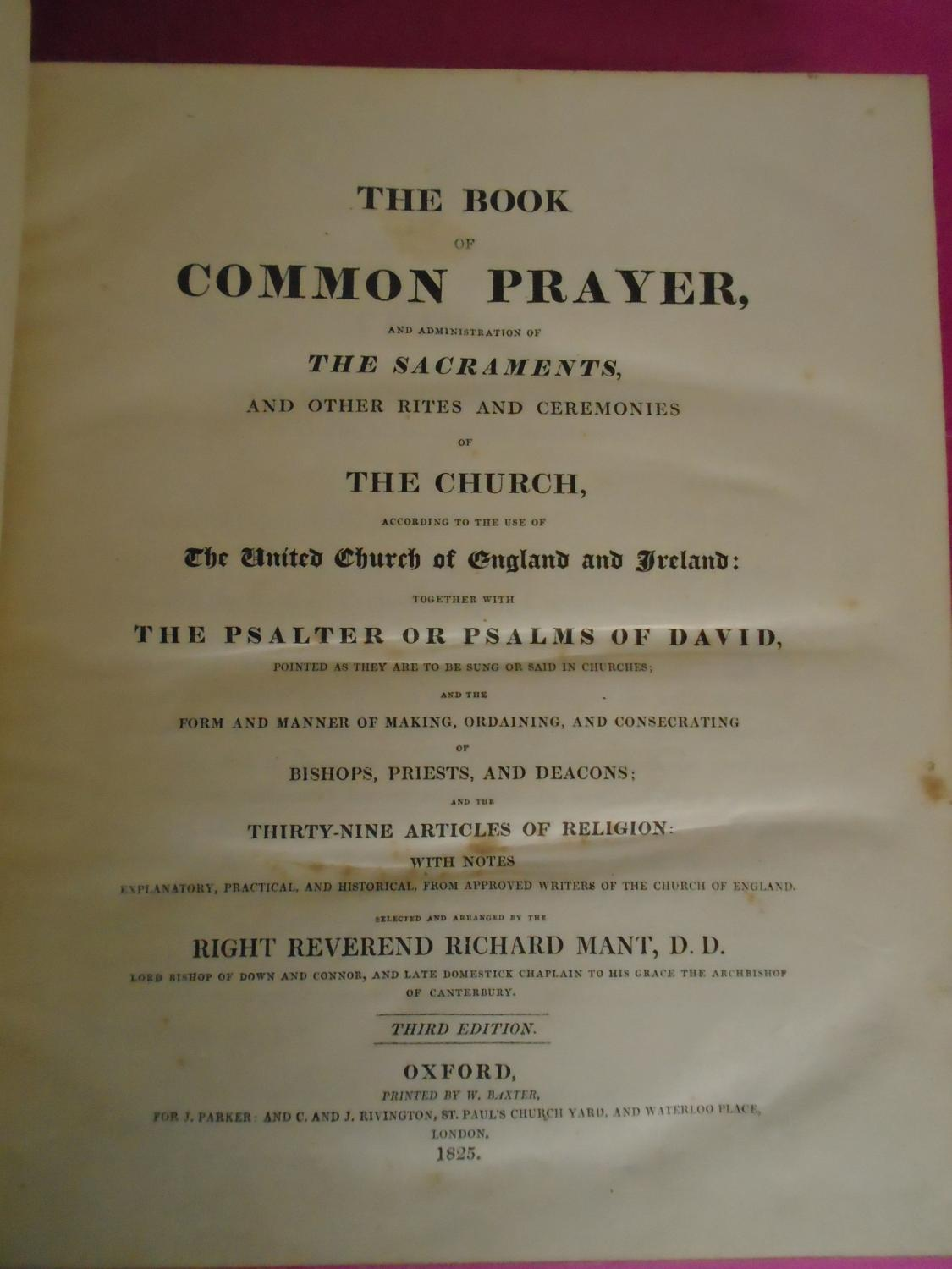 The Book of Common Prayer and Administration of the Sacraments, First Edition
