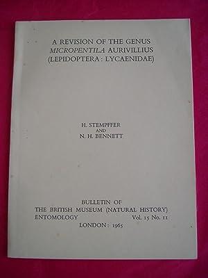 A REVISION OF THE GENUS MICROPENTILA AURIVILLIUS: Stempffer, H. and