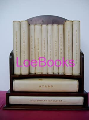 REFERENCE LIBRARY A Set of 12 books Finely Bound in Half Vellum Housed in a bespoke bookcase: J.C...