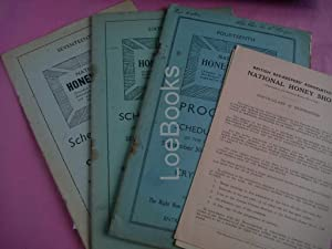 A SMALL ARCHIVE OF THE NATIONAL HONEY SHOW SCHEDULE OF PRIZES and PROGRAMMES and AWARD LISTS 1936-...