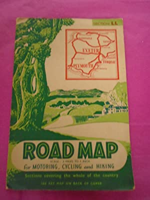 Road Map (scale: 3 Miles to 1 inch) for Motoring, Cycling and Hiking: Section LL (Exeter, Torquay...