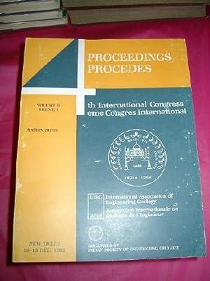 PROCEEDINGS 4th INTERNATIONAL CONGRESS INTERNATIONAL ASSOCIATION OF: Various