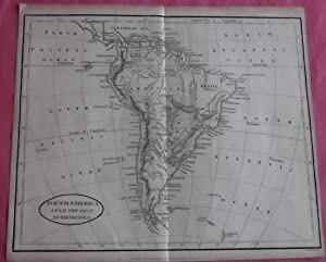 SOUTH AMERICA From the Best Authorities Inc. Falkland Islands (ORIGINAL ANTIQUE MAP)