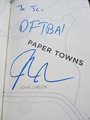 Paper Towns *Signed 1st Printing -- Happy: Green, John