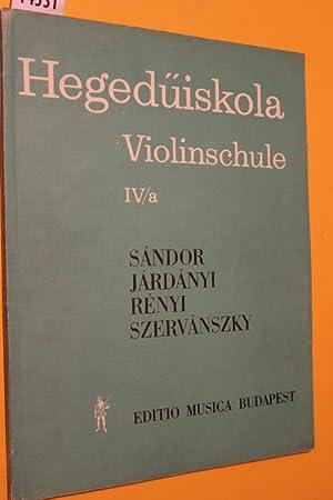 Hegedüiskola Violinschule IV/a: Frigyes, Sándor/ Pál,
