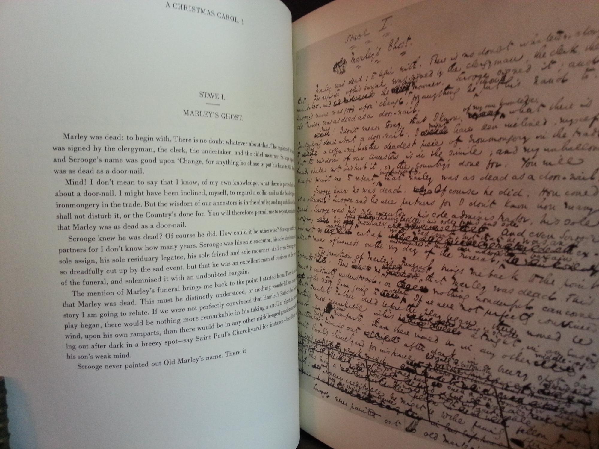 A Christmas Carol - Facsimile Manuscript - FIRST EDITION -: Dickens, Charles