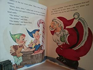 SANTA CLAUS and the Little Lost Kitten - A FUZZY WUZZY Book: Myers, Louise W. (Illustrated by)