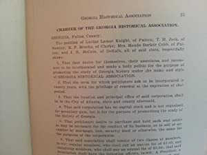 Proceedings of the Second Annual Session of The Georgia Historical Association: Georgia Historical ...