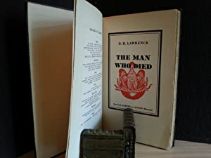 The Man Who Died (FIRST EDITION): Lawrence, D.H.