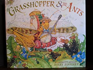 The Grasshopper & The Ants ** S I G N E D ** - FIRST EDITION -: Pinkney, Jerry