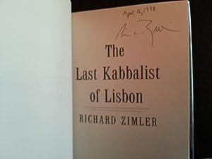 The Last Kabbalist of Lisbon * SIGNED * - FIRST EDITION -: Zimler, Richard