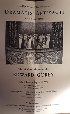 EDWARD GOREY Theatrical Art and Ephemera Exhibition ADVERT (POSTER) - 1998