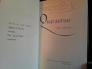 Quarantine ** S I G N E D **: Crace, Jim