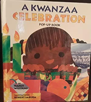 A Kwanzaa Celebration - Pop-Up Book * SIGNED * - FIRST EDITION - + Postcard