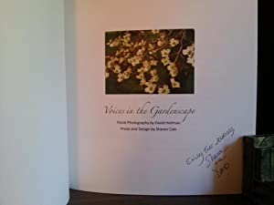Voices In The Gardenscape * SIGNED by BOTH *: Cain, Sharon (with photography by David Heilman)