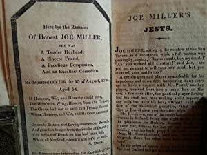 Joe Miller's Jests, or, The Wit's Vade-Mecum; Being a Collection of the Most Brilliant ...