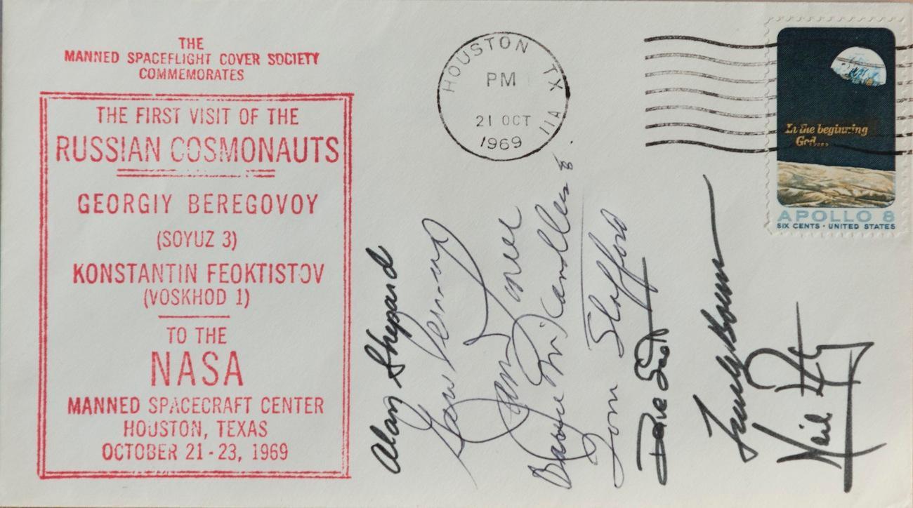 Yuri Gagarin 1st Man in Space Autograph Reprint On Original Period 1961 3X5 Card