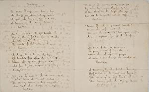 "Early Draft Autograph Manuscript of ""Excelsior,"" incorporated: LONGFELLOW, HENRY WADSWORTH"
