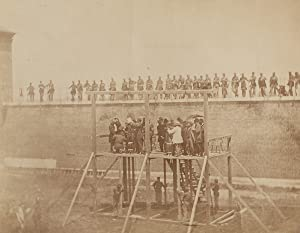 Photograph of the execution of the Lincoln: LINCOLN, ABRAHAM.) Gardner,