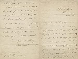Autograph letter signed �Marian E. Lewes� to: ELIOT, GEORGE (Marian