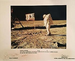 Photograph of Buzz Aldrin standing on the: APOLLO 11.) Armstrong,