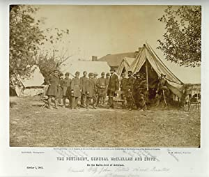 The President, General McClellan and Suite on: LINCOLN, ABRAHAM.) Gardner,