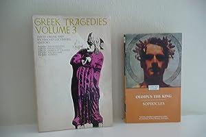 Greek Tragedies Volume 3; and Oedipus the King: Greene and Lattimore, editors; Sophocles